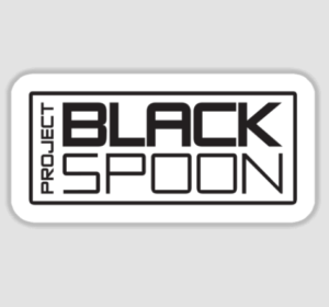 Sticker with Project Black Spoon Logo